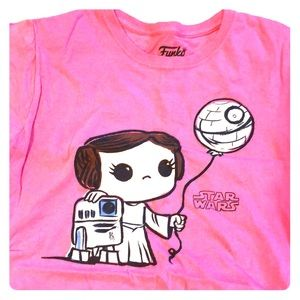 Funko Pink Star Wars Princess Leia T-shirt large